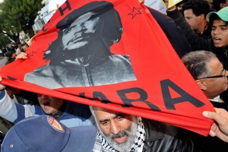 Che_protestas_Tanger_apoyo_Egipto