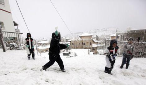 Snow storm in Israel