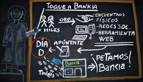 Cartel promocional de la acción Toque a Bankia