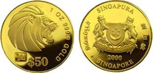 Moneda-leon-de-oro-de-singapur