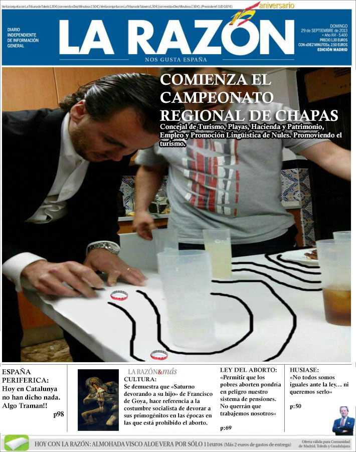 CIRCULA FOTO DE CONCEJAL DEL PP PREPARANDO RAYAS DE COCA (2/2)