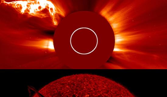 Contempla la belleza de una enorme espiral de plasma solar_